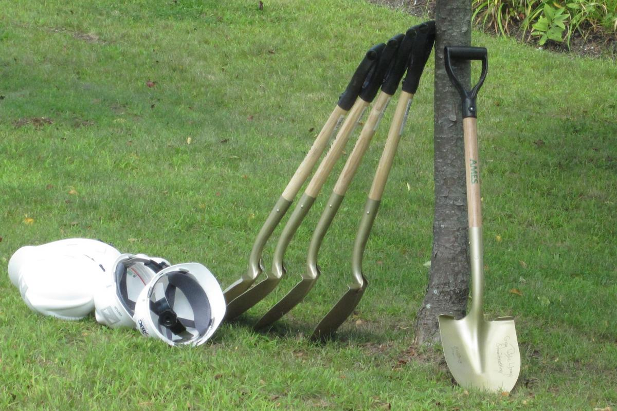 photo of shovels ready for ceremony