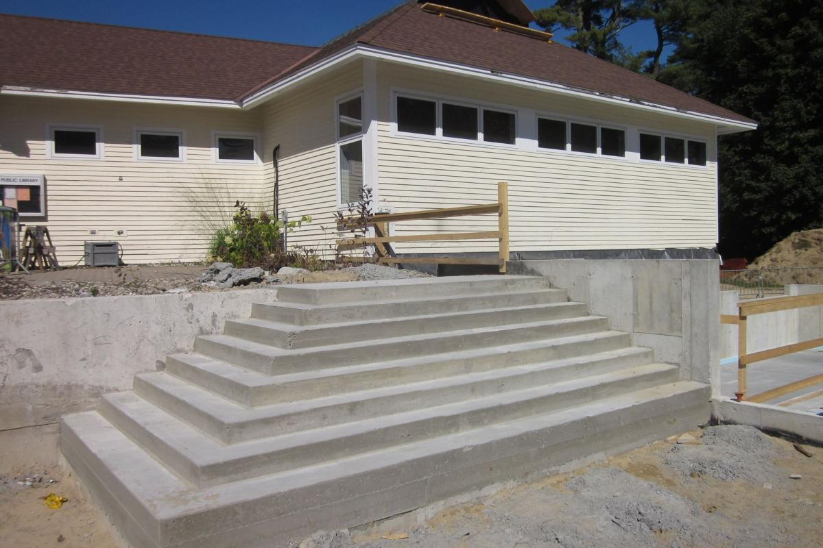 photo of new front steps